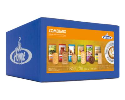 Hoppe koffiekoekjes Zomermix 6 soorten 150 stuks per stuk verpakt