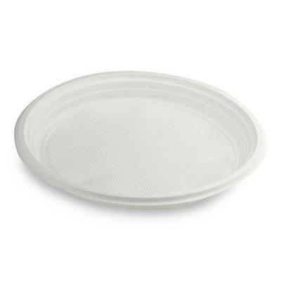 Plastic Borden Wit 1-vaks 22cm 100 stuks