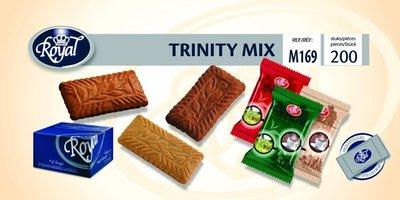 Trinity Mix speculoos,chocolade en vanillesmaak 200 stuks.(koekjes)