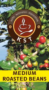 KST Voordeelpakket Bonen - 2 Zak KST Medium Roasted Beans Koffie 1kg - 1 zak Grubon Topping 100 1kg.- 1 zak Grubon Topping 60 750gram - 2 zak KST Cacao 750gram