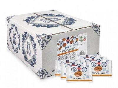 Nieuw..Mini caramel Stroopwafel(koekjes) 200 P/st verpakt